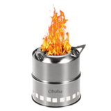 Ohuhu Stainless-Steel Wood Fuel Backpacking Stove