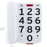 Home Intuition Amplified Single Line Corded Desk Telephone with Large Easy to Read Buttons and Extra Loud Ringer