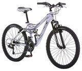 Mongoose Girls' Maxim Full Suspension Bicycle, 24""