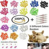 VICTHY Soft Cat Nail Caps, 100 pieces
