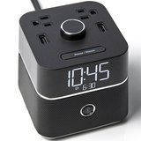 Brandstand CubieBlue Charging Alarm Clock with Bluetooth Speaker