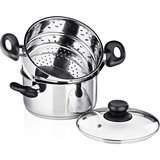 Chef's Star 3-Piece Stainless Steel Stack and Steam Pot Set