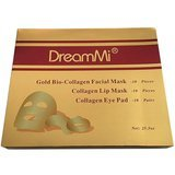 DreamMi Gold Bio-Collagen Face Facial Mask Plus Lip and Eye Pads