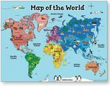 Motivation Without Borders World Map Poster for Kids