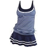 MiYang Striped Vintage Swim Dress