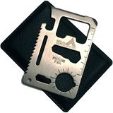 Ninja Outdoorsman 11-in-1 Stainless Steel Credit Card Survival Multi-Tool