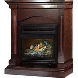 "Pleasant Hearth 36"" Convertible Vent-Free Dual Fuel Fireplace in Tobacco"