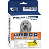 ProSense Flea & Tick Prevention Control for Dogs, 33 to 66 pounds, 3-Month Supply