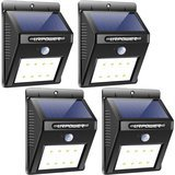 URPOWER Solar LED Motion Sensor Outdoor Lights 4-Pack